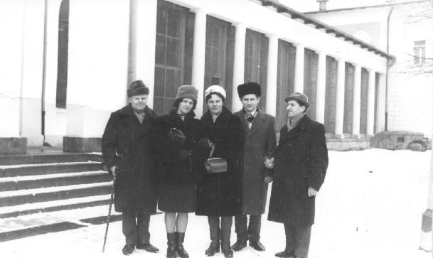 Rodzina z Kresów z wizytą w Polsce Fabian Nowicki, Maria Niemczuk, Janina i Józef Nowiccy, Stanisław Nowicki Duszniki Zdrój 1968 rok