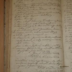 Józef Nowicki i Teofila Rakowa /2-ga żona/ 9 sierpień 1843 r Księga egzaminów przedślubnych Parafii w Połoneczce
