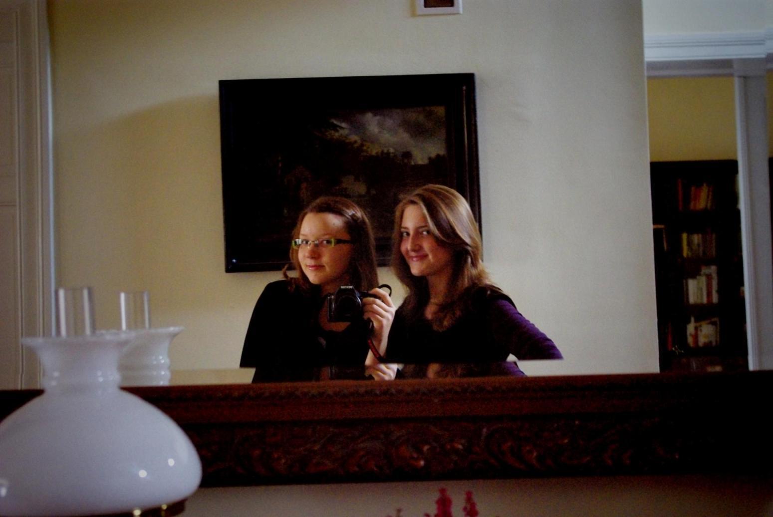 Kasia Gasztyk i Ola Nowicka prawnuczki Stanisława Nowickiego Nysa październik 2009