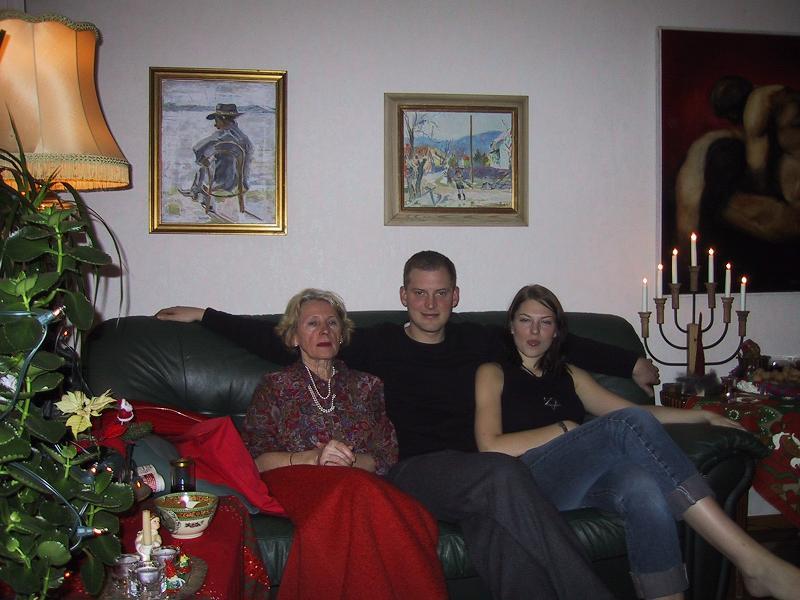 Szwedzka Rodzinka Geteborg Boże Narodzenie 2007 Emilia Nowicka z Natalią i Marcinem