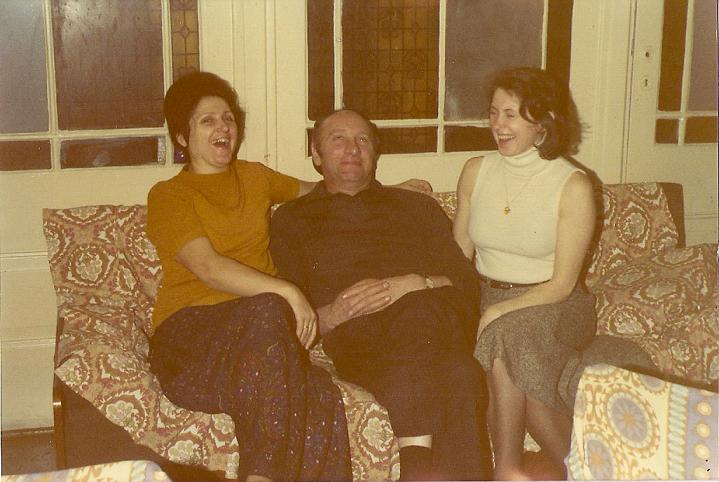 Wanda Cyronek , Mieczysław Cyronek i Emilia Claesson-Nowicka Bystrzyca Oławska 1975 rok