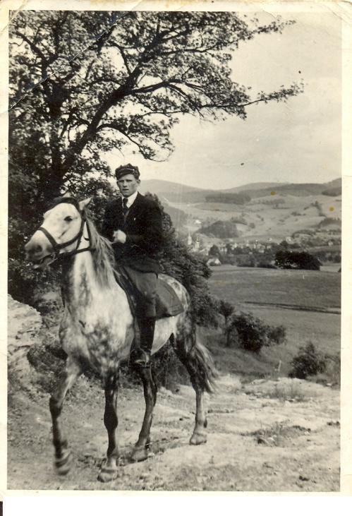 Zawsze na koniu Władysław Nowicki Duszniki Zdrój 1950